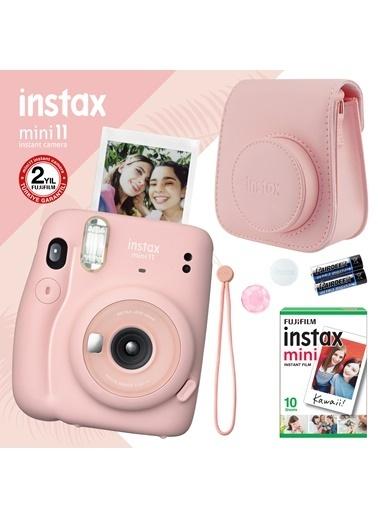 Fujifilm instax mini 11 Pembe Fotoğraf Makinesi ve Hediye Seti 3 Pembe
